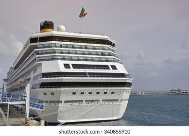 Cruise ship docked in Palma de Mallorca (Spain)