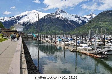 Cruise Ship Docked in Skagway, Alaska, United States