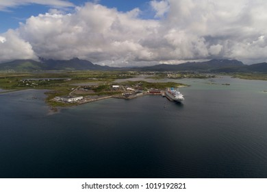 Cruise ship docket a summer day.