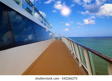 Cruise ship heading to Caribbean Islands
