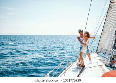 Cruise ship holiday travel vacation – Happy man and woman enjoying in cruise