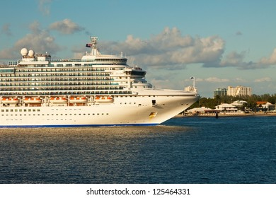 Cruise Ship in the inter-coastal waterway in Port Everglades, Fort Lauderdale, Florida.