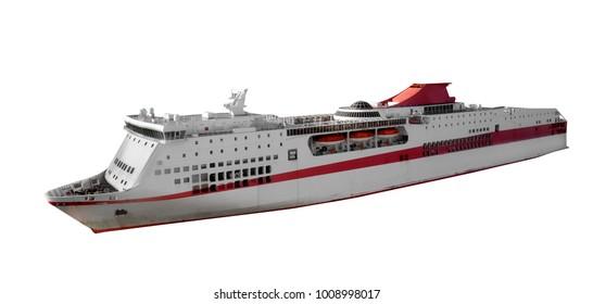 Cruise ship isolated on the white