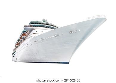 Cruise ship isolated on white background