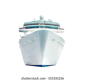 Cruise ship isolated on white background, ocean liner