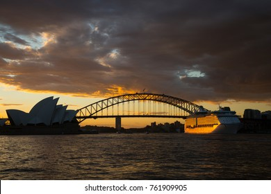 Cruise ship is leaving Sydney