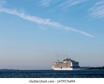 Cruise ship on the Baltic Sea near Kiel, Germany