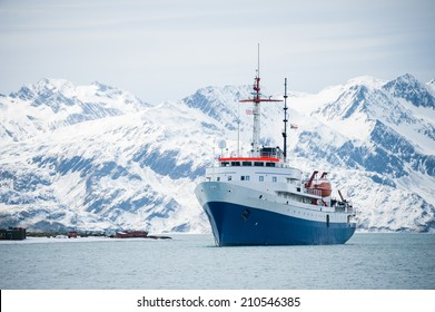 Cruise ship, on an expedition to Antarctica