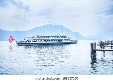Cruise ship on Lake Lucerne, Switzerland