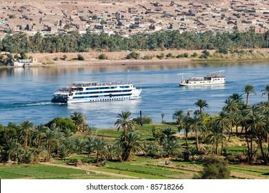 Cruise ship on Nile River