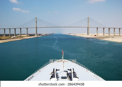 Cruise ship passengers passing through Suez Canal.