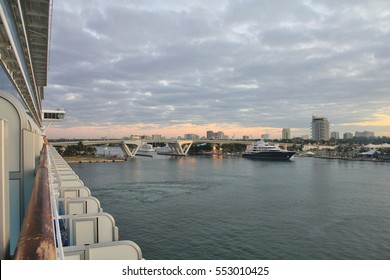 Cruise ship in Port Everglades, Fort Lauderdale, Florida