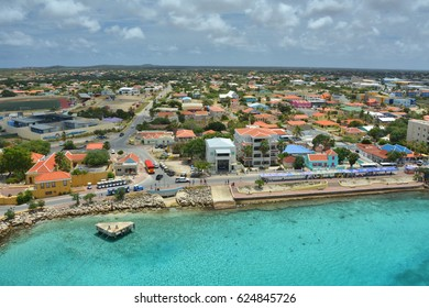 Cruise ship port in Kralendijk, capital city of Bonaire, island of the ABC Caribbean Netherlands