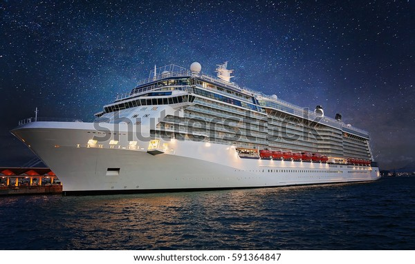 Cruise ship in Puerto Rico ready to depart