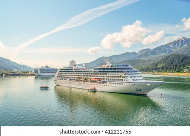 Cruise ships in port of Juneau, Alaska