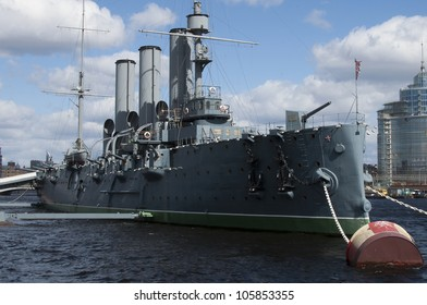 Cruiser Avrora in the city Sankt-Peterburg