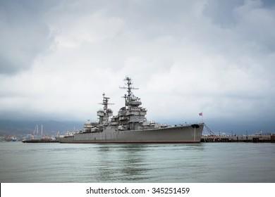 "Cruiser ""Mikhail Kutuzov"" Novorossiysk in the dock."