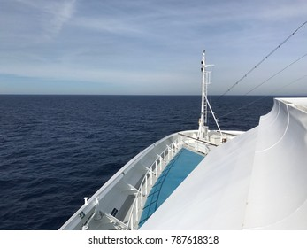 Cruising in the Mediterranean sea near Gibraltar by sunset and sunrise