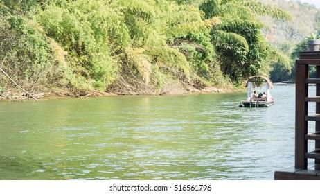 cruising river in thai