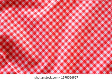 crumble classic pink plaid fabric or tablecloth background