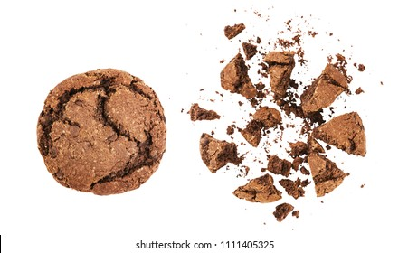 crumbled cookies with chocolate
