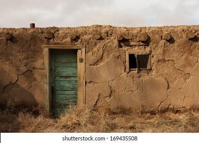 Crumbling adobe house, New Mexico
