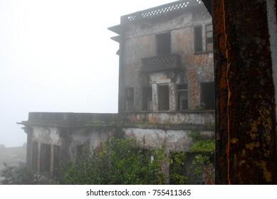 Crumbling Ruins of French Colonial Casino, Kampot, Cambodia