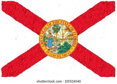 Crumple flag of Florida American state