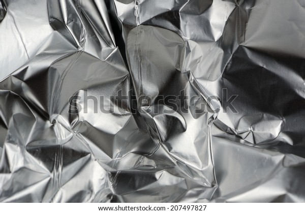 Crumpled Aluminum Metal Foil