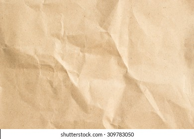 crumpled art tan paper texture for background