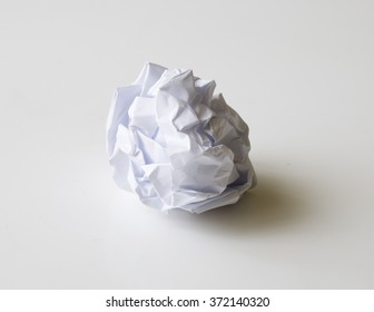 Crumpled ball of paper