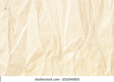 Crumpled brown background paper texture