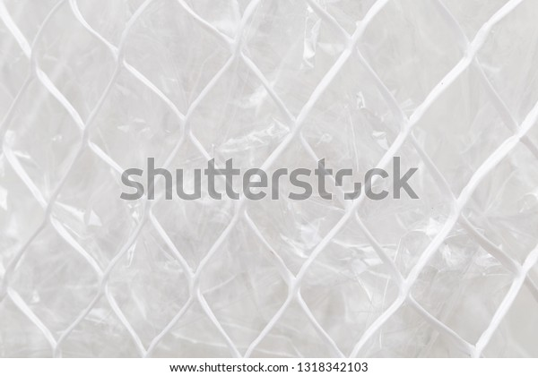 Crumpled Cellophane Paper Polythene Net Abstract Royalty