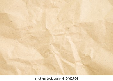 crumpled cream paper background texture