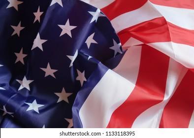 Crumpled flag of USA