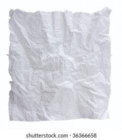 Crumpled napkin
