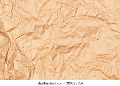 Crumpled old brown paper