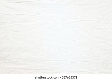 Crumpled old white paper