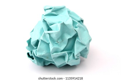 Crumpled paper against a white background.