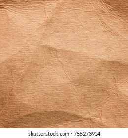 Crumpled paper background or texture. Cardboard paper.
