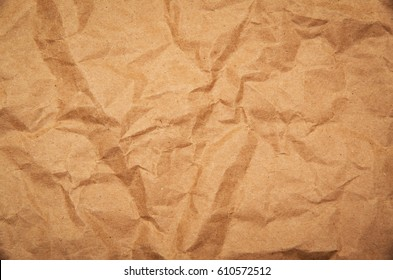 Crumpled paper for background usage