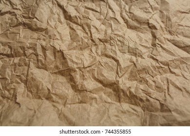 crumpled paper, paper background, crumpled yellow cardboard