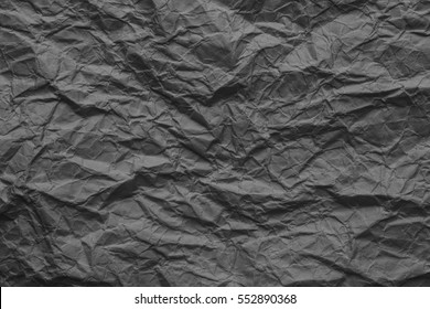 Crumpled paper texture, background with copy space