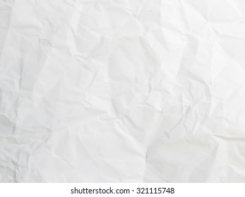 Crumpled paper texture pattern background in light white color tone