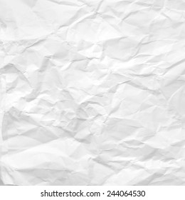 crumpled paper texture white background