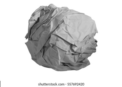 Crumpled pieces of paper isolated on white background