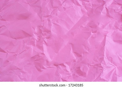 Crumpled pink paper
