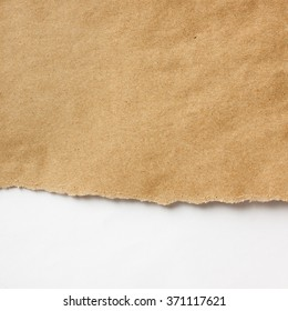 Crumpled ragged brown recycled paper