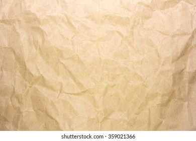 Crumpled recycle paper background and texture