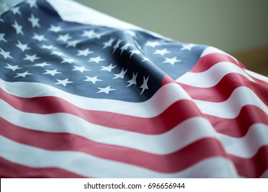 crumpled of United states of America flag